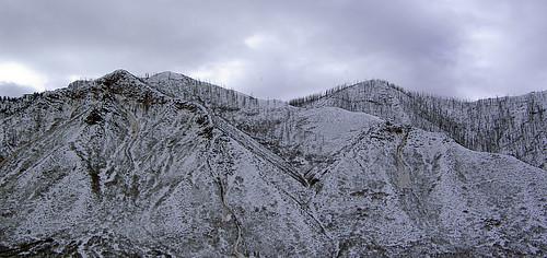 snow mountains landscape colorado burned wildfire