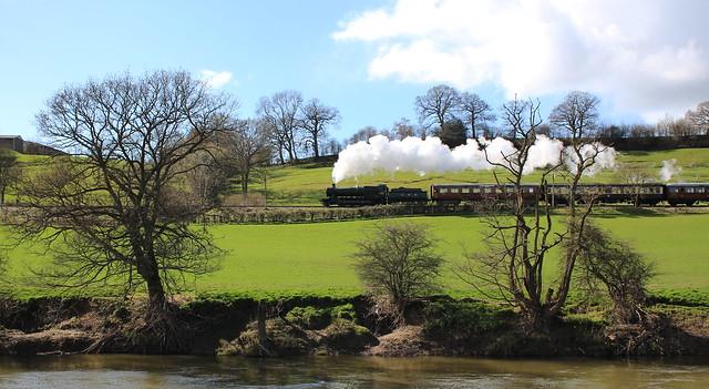 Severn Valley Railway Spring Steam Gala - GWR steam loco 2857 near Highley.