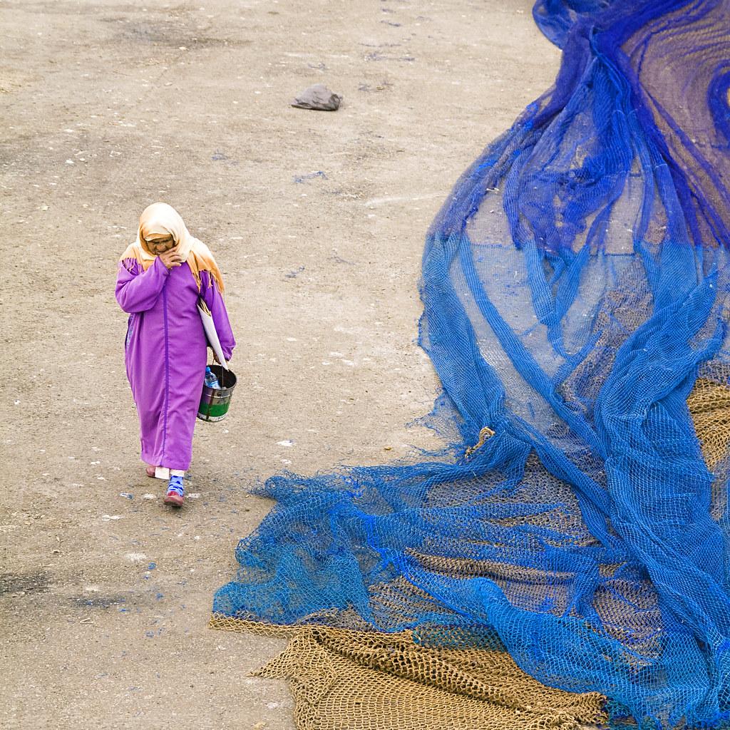 Fishing nets, Essaouira, Morocco