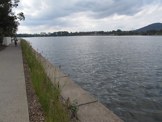 Walk along the shore of Lake Burley Griffin