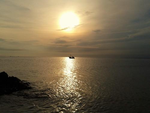 piriápolis pescadores atardecer cobrizo