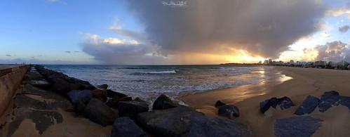 praiadarocha rockbeach beach water sea atlanticocean ocean rocks sunset sky portimao faro algarve portugal panoramic sonydschx20v panaromic