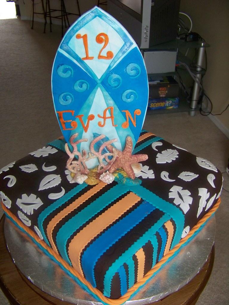 Surf Board- Birthday Cake- The Cake Zone-Florida | The Cake Zone ...