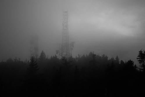 trees mountain monochrome fog clouds forest observation woods vermont unitedstates state towers mount windsor ascutney em5 714mm