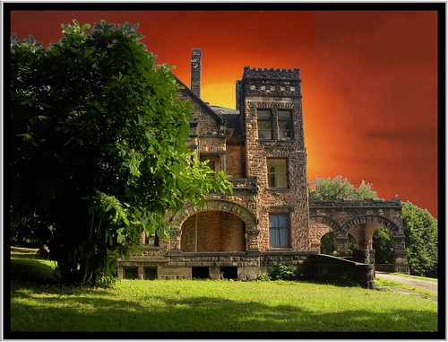 county sunset sky ford stone by architecture fire arch chad victorian sharon mercer pa abandon mansion 1001nights romanesque destroyed arche richardsonian 1001nightsmagiccity onasill rockyhillcastle