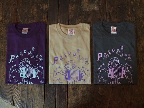 パスカルズ Tシャツ バイオレット violet サンド sand チャコール charcoal | by yugo.sakai