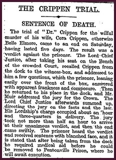 21st October 1910 - Crippen sented to deathial | by Bradford Timeline
