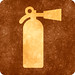 Sepia Grunge Sign - Fire Extinguisher