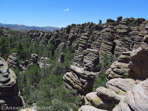 There's no entrance fee to see this view in Chiricahua National Monument, Arizona