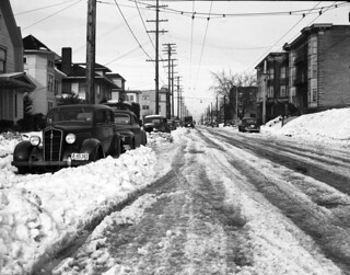Snow on Capitol Hill, 1943