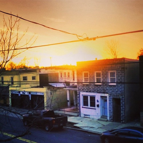 city sunset urban usa color philadelphia america square unitedstates westphiladelphia pennsylvania pa squareformat philly westphilly haddington cityofbrotherlylove iphoneography instagramapp uploaded:by=instagram