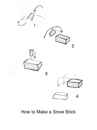 Ashley Morgan - How to Make a Snow Brick Print