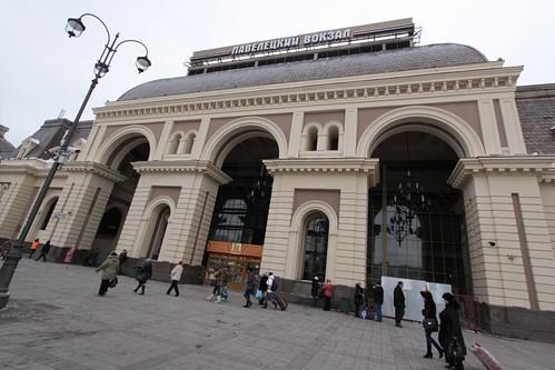 Main entry to Paveletsky railway station