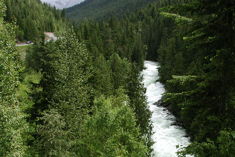 Slocan River, Nakusp, Upper Arrow Lake, West Kootenays, Kootenay Rockies, British Columbia, Canada