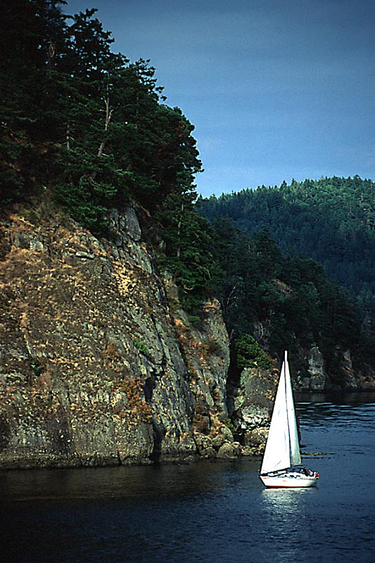 Sailing around Vancouver Island, British Columbia, Canada