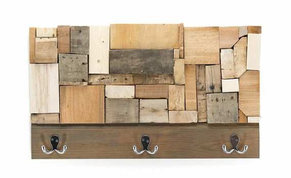 Rustic Wood Mosaic Wall Hanging Coat Rack Adam Yust Art Flickr