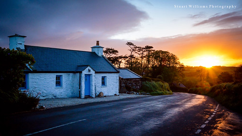 road sunrise dawn nikon cottage isleofman