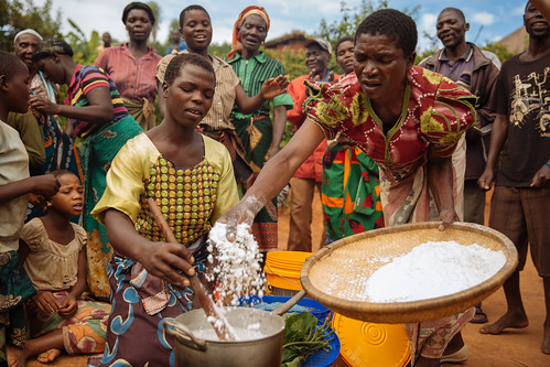 Malawi Women Preparing a Meal with Neighbors Gathered - IFPRI | by CGIAR System Organization
