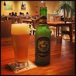 とても雰囲気が良い。阿蘇ビール ペールラガーをいただきながら。