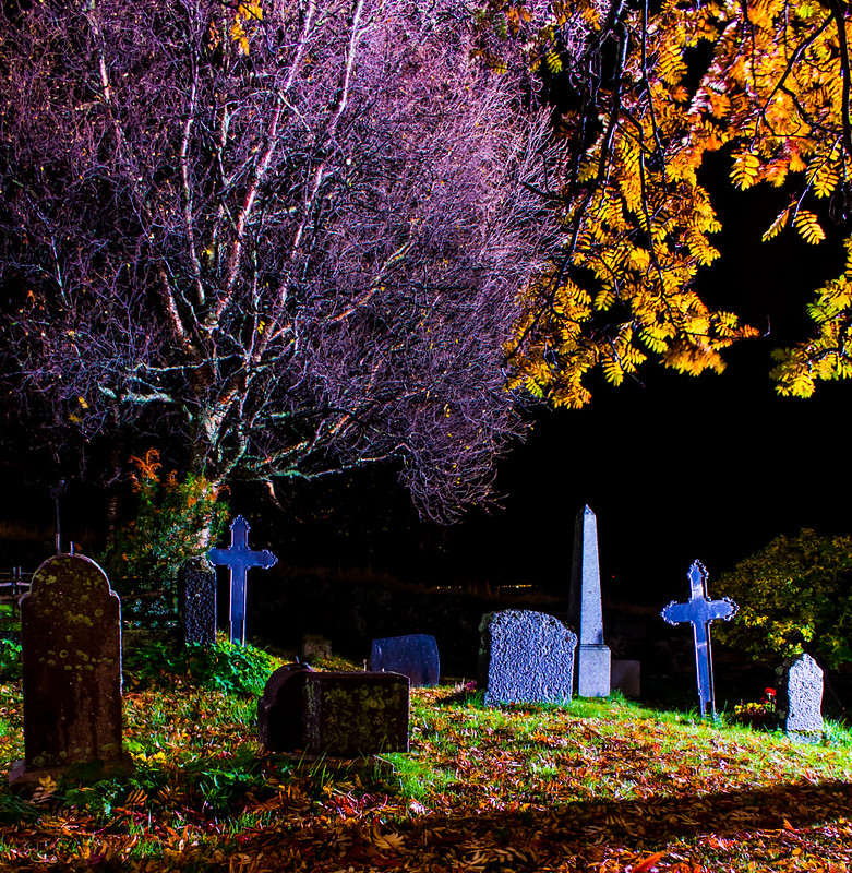Autumn Graveyard