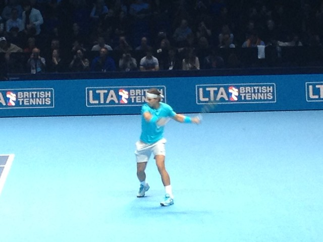 Rafal Nadal during the final of the ATP World Tour Finals