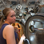Emily in the USS Bowfin
