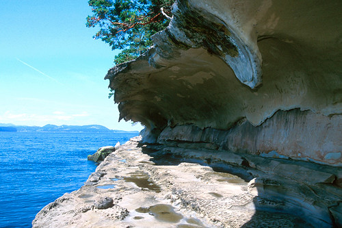 Sandstone formation at Malaspina Galleries in Gabriola Sands Provincial Park, Gabriola Island, Gulf Islands, British Columbia