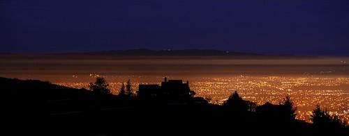 mthamilton mthamiltongrandview restaurant mansion silhouette gold night orange fog smog hdr 1xp raw nex6 photomatix fav100 siliconvalley sanfranciscobay