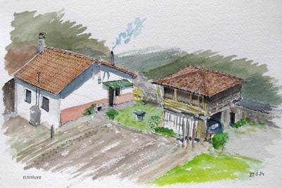 Una casa con historia.Arroes.Asturias (Spain)