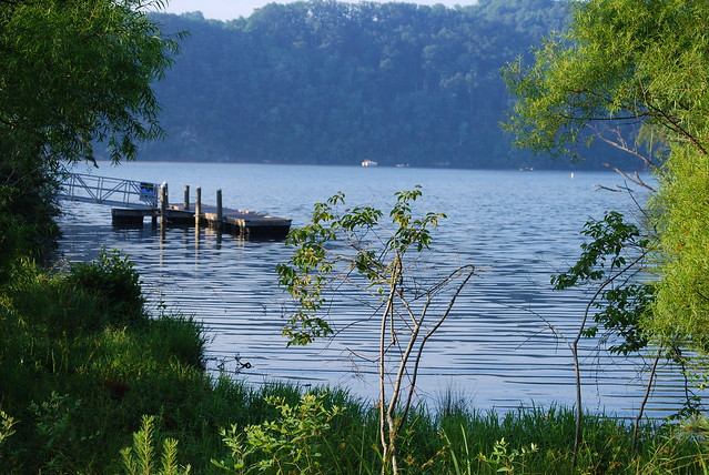 Dock near lodges at Claytor Lake State Park