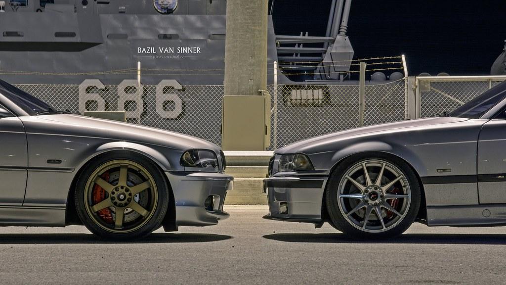 M3 E36 Vs E46 Ci Turbo Japan Racing Wheels Souda S Port Flickr