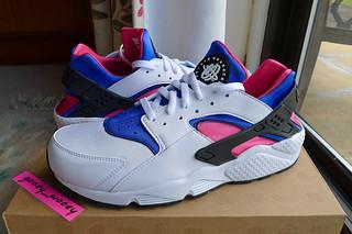 901f733ac9ef Nike Air Huarache  White   Game Royal - Dynamic Pink  (318429 146) ...