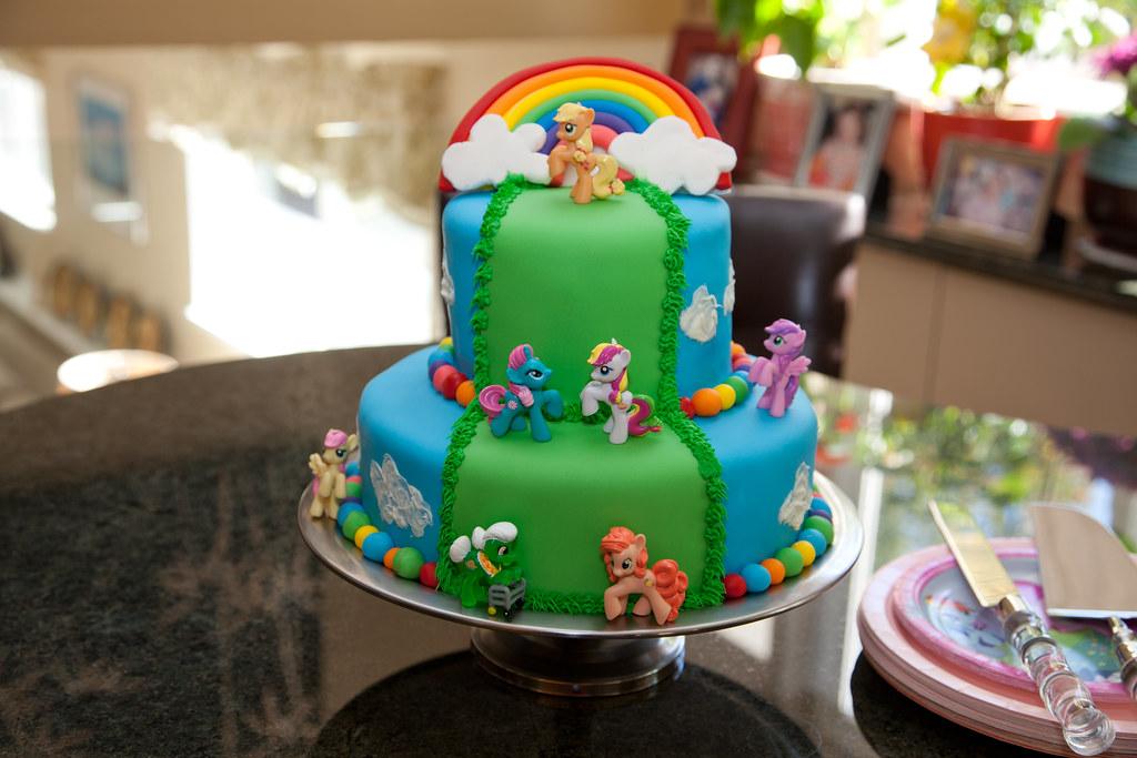 Super My Little Pony Birthday Cake Her Party Was My Little Pony Flickr Funny Birthday Cards Online Ioscodamsfinfo
