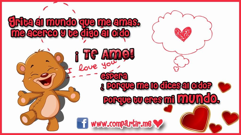 Frases De Amor Diseño De Postal Con Frase Te Amo Descar