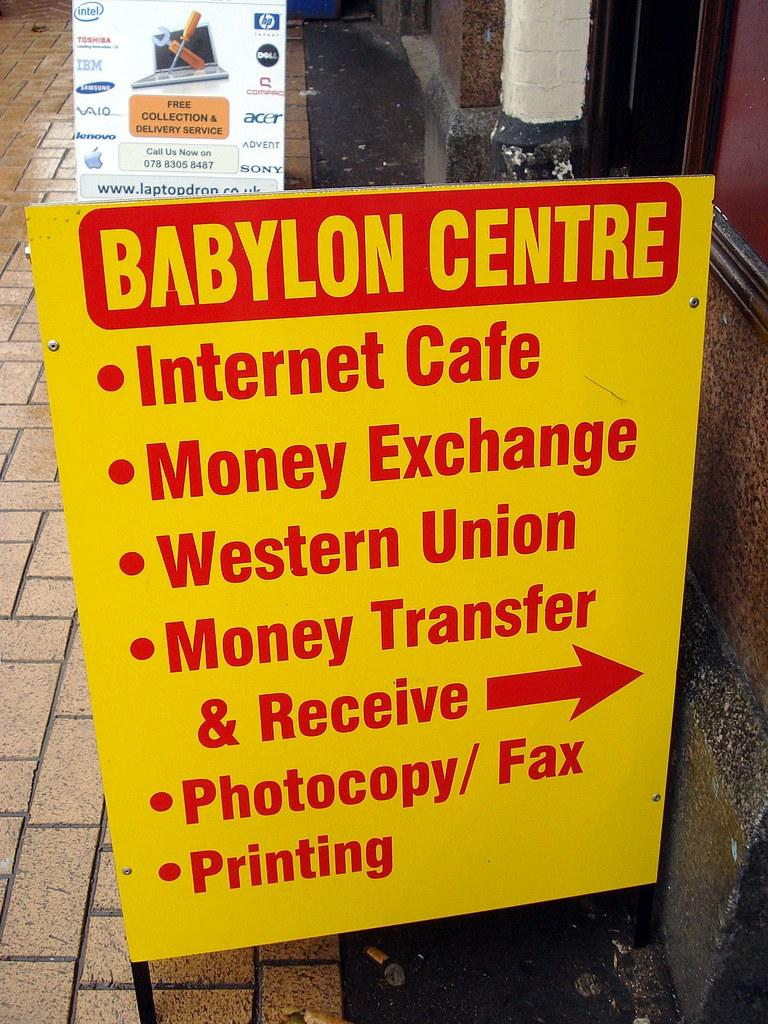 Sign outside Babylon Centre, Croydon, London CR0 | Opened la