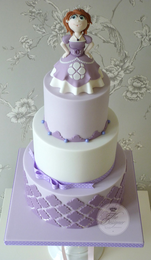 Fantastic Sofia The First Birthday Cake Isabelle Bambridge Flickr Funny Birthday Cards Online Fluifree Goldxyz