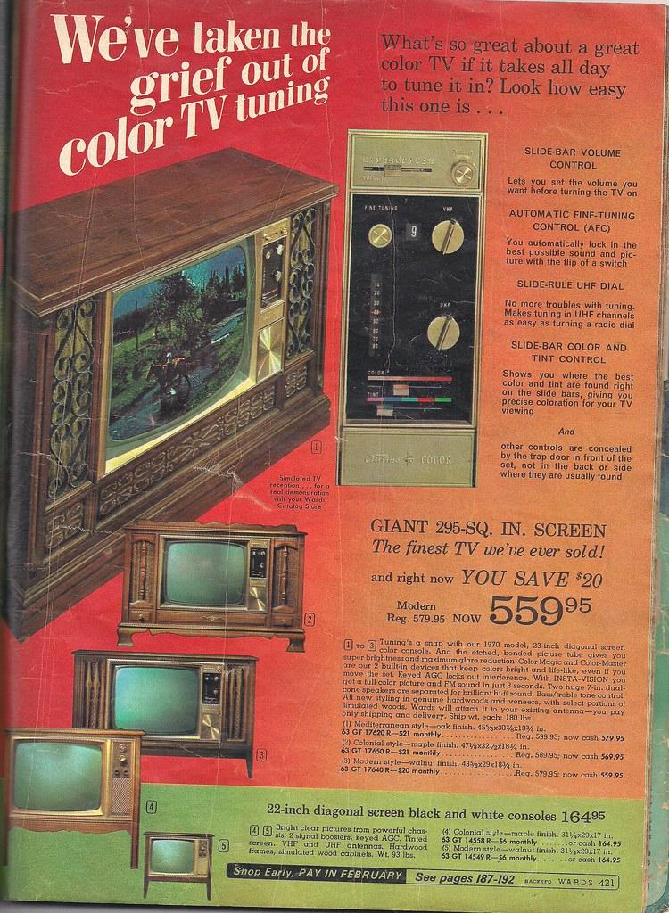 1969 Montgomery Ward Christmas Catalog TV | Guilherme Holtz