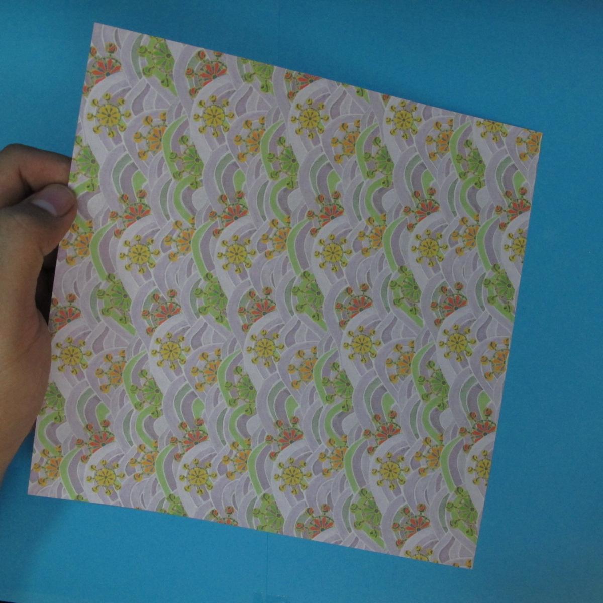 สอนวิธีพับกระดาษเป็นช้าง (แบบของ Fumiaki Kawahata) 001