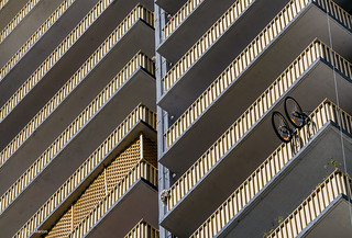 Apartment balcony pattern - St. James Town   by Phil Marion