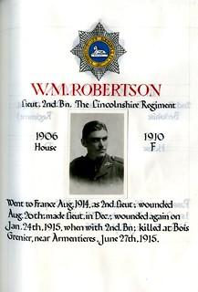 Robertson, William Maxwell (1892-1915) | by sherborneschoolarchives
