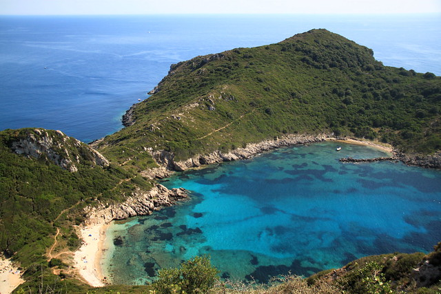 Afionas Beach, Corfu island