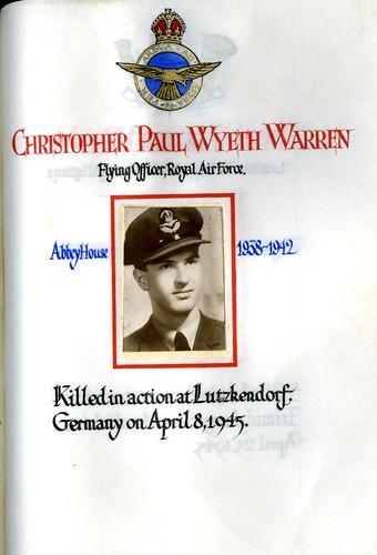 Warren, Christopher Paul Wyeth (1924-1945) | by sherborneschoolarchives