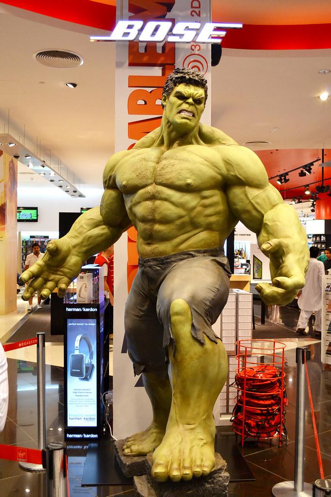 The Incredible Hulk   From Virgin Megastore Dubai Mall