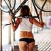 girl and bike by Artem Vasilenko