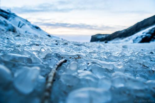 blue abstract ice landscape frozen iceland bokeh oru 2014