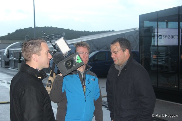 The Sky F1 team at Formula One Winter Testing 2014