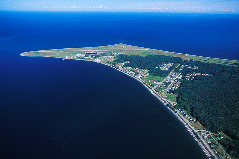 Sandspit and Sandspit Airport, Moresby Island, Haida Gwaii (Queen Charlotte Islands), British Columbia, Canada