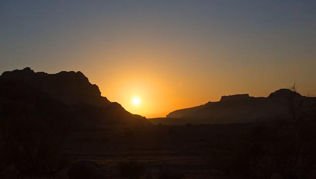 As the sun sets, Jordan