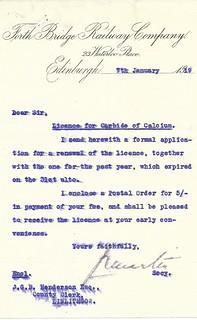 Forth Bridge Railway memo 1919   by ian.dinmore