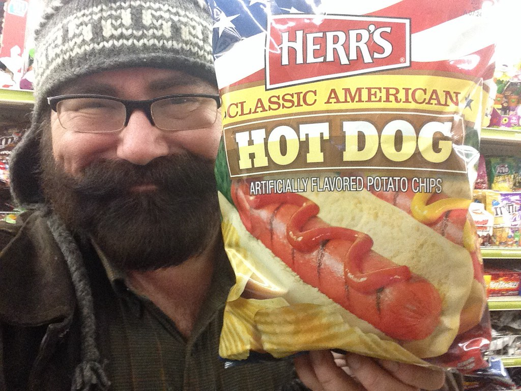 Hot Dog Flavored Potato Chips by Herr's